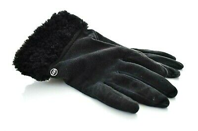 UGG Suede Cashmere Touch Screen Smart Gloves Black Size L MSRP $128