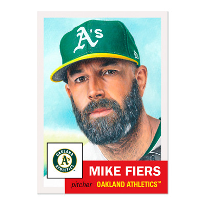Topps Living Set Card #298 Mike Fiers Oakland A's Pre-Sell