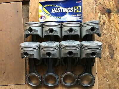 Ford 351W//5.8 Speed Pro Hypereutectic Coated Flat Top Pistons+MOLY Rings 8 +60
