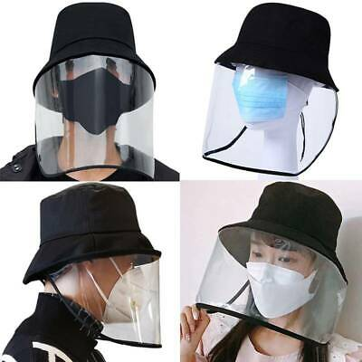 Fisherman Hat Protective Clear Cover Saliva-proof Dust-proof Sun Visor Cap USA