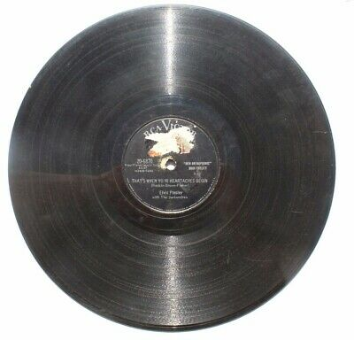 78 rpm (Rock) ELVIS PRESLEY RCA Victor 20-6870 All Shook Up / Thats When Your