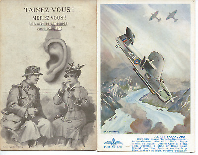 2x VINTAGE POSTCARDS - WAR Related