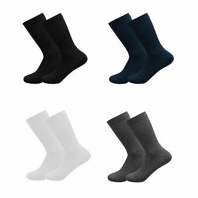 3 6 Pairs LOT Girls Boys Plain Socks Ankle High Lycra Cotton Rich School Uniform