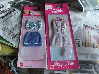 2 Packets Of Vintage Barbie Clothes