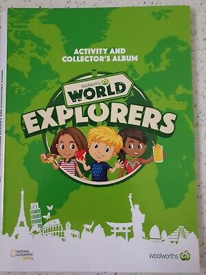 Woolworths World Explorers - Activity & Collector's Album Full Set