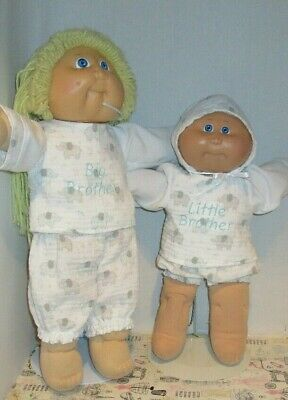 """Adorable Big Little Brother Outfits for 14 """" & 16"""" Cabbage Patch Blue Elephant"""