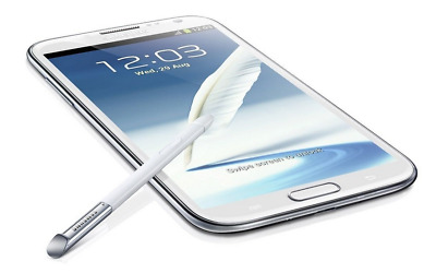 5.5'' Samsung Galaxy Note 2/II GT-N7100 Marble White - 16GB - Android Smartphone