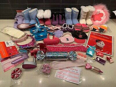 """American Girl Doll box of Accessories Lot for 18"""" American Girl Doll"""