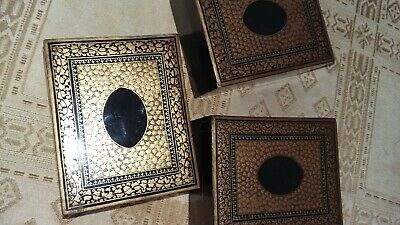 3 papier mache,laquered 19th century chinese gaming box's for m.o.p counters