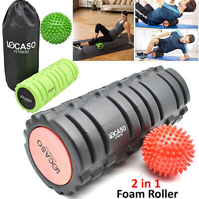 Grid Foam Roller Massage Ball Yoga Pilates Muscle Physio Gym Fitness Exercise UK