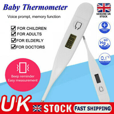 2PCS Digital LCD Medical Thermometer Mouth Underarm Baby Body Temperature Aid UK