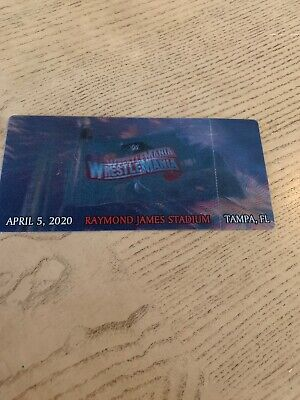 WWE Wrestlemania 36 Commemorative Canceled 3D Ticket Stub Rare Souvenir
