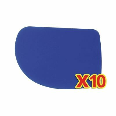 Bundle of Pastry Scrapers of Polypropylene with Flexible Rounded Edge Pack of 10