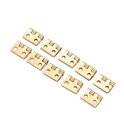 20x Mini Small Metal Hinge for 1/12 House Miniature Cabinet Furniture ^F xeP0CR
