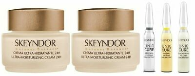 2 X Ultra Moisturizing 24H 50ML Natural Defence + 3X Concentre UniQCure SkeyndoR
