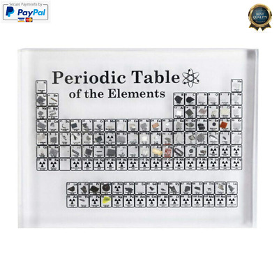 Acrylic Periodic Table Display With Real Elements Kids Teaching School Day