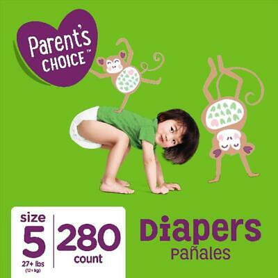 Parent's Choice Diapers Size 5 280 Diapers Mega Box Perfume And Latex Free