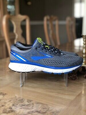 Brooks Ghost 11 Mens Running Shoe Grey/Blue/Silver multiple size 9.5
