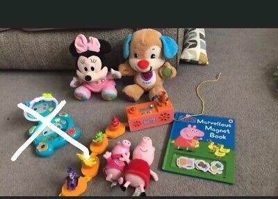 Bundle Of Musical Toddler Toys Vtech Minnie Mouse Tellytubbies Peppa Pig