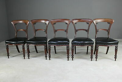 5 Good Quality Antique Early Victorian Mahogany Dining Chairs
