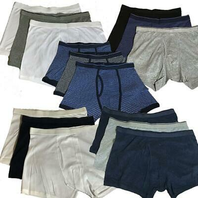 Ex M&S 3 Pack Plain And Patterned Jersey Cool & Fresh Cotton Boxer Shorts RRP£19