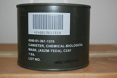 M40 Type C2A1 Chemical-Biological Gas Mask Filter New In Seal Can