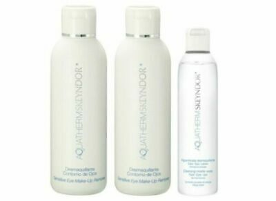 2 X Desmaquillante Make Up Remover 150ML + 1X Micellar 100ML Aquatherm Skeyndor
