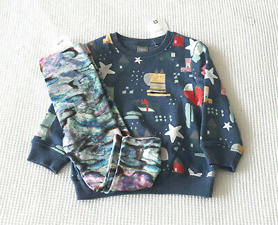 Next Baby Girls Blue Character Print Jumper & Leggings Age 12-18 Months BNWT