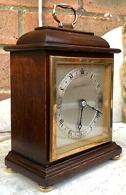 Elliot, London For Mappin & Webb 8 Day Mahogany Mantle, Carriage Clock. GWO.