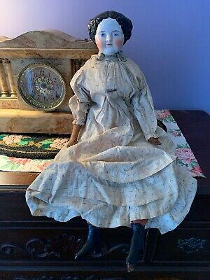 Large 1860 Antique China Head Doll All Original