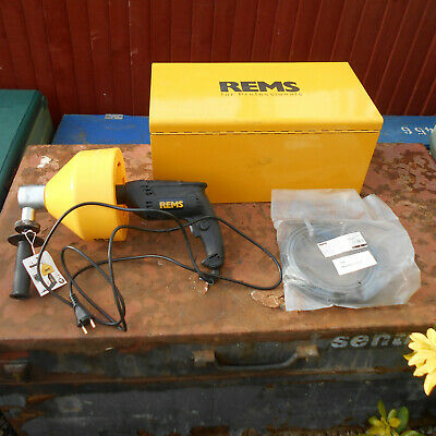 Rems Mini Cobra S 240 Volts New Drain Cleaner In Steel Box Very Good Condition