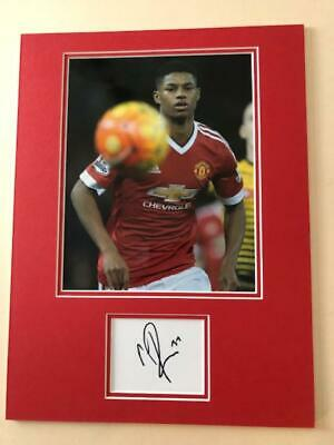 Marcus Rashford 'Man Utd' signed & mounted - COA - SALE ITEM