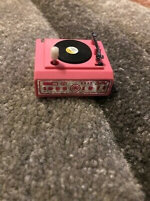Vtg Mattel Barbie Accessory: (1987) 'Magic Moves' Wind Up Record Player