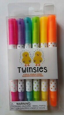 Twinsies 6 Pack Double Sided Markers/highlighters