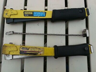 Two (2) Stanley SharpShooter Heavy-Duty Staple Hammers T-50 w/ Extra Spring