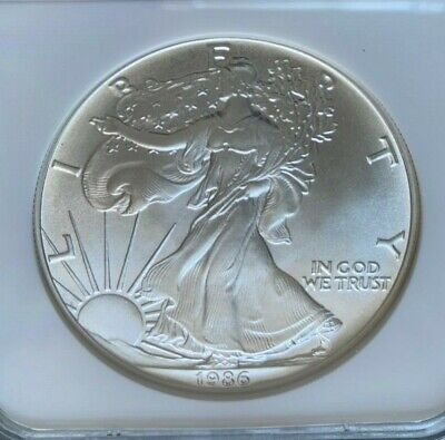 1986 American Silver Eagle Ngc Ms69 Very Clean Great Eye Appeal First Year Issue