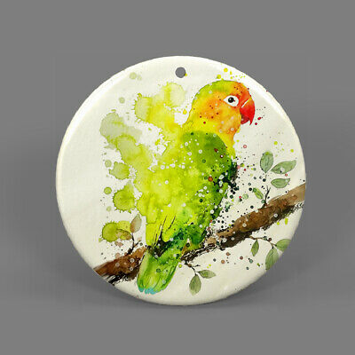 Natural Ablone Shell Parrot Round Shape Pendant Necklace Jewelry  J1707 0741