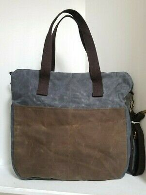 CB STATION Waxed Canvas Multi Pocket Travel Tote / Bag - NEW WITHOUT TAGS
