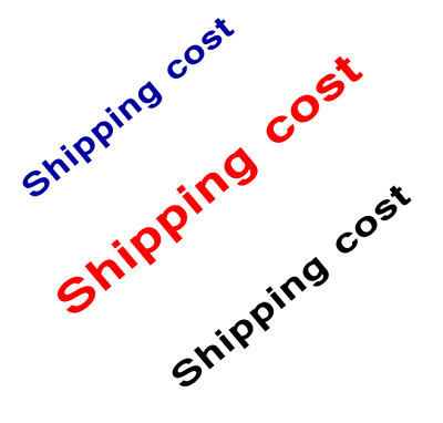 Shipping cost for express(DHL,UPS) dedicated listing