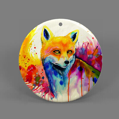 Natural Ablone Shell Fox Round Shape Pendant Necklace Jewelry  J1707 0353