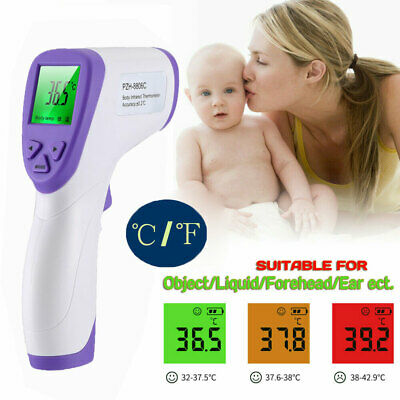 LCD Digital Non-contact IR Infrared Thermometer Forehead Body Temperature Gun FR