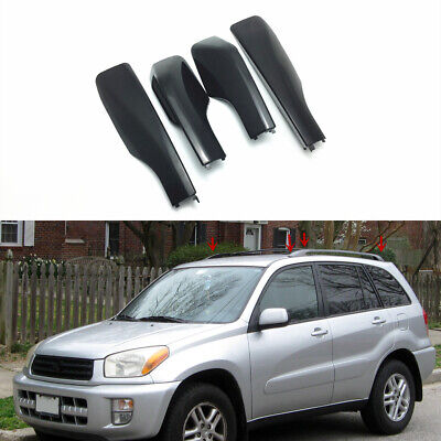 4P ABS Roof Rack Bar Rail End Replacement Cover Shell For TOYOTA RAV4 XA40 13-18