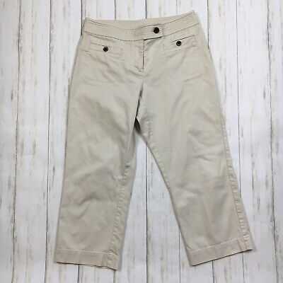 Talbots Womens Size 4 Beige Croped Capri Pants