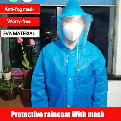 EVA Protective Raincoat Clothing Isolation Overalls Suit Splashproof Anti-Fog