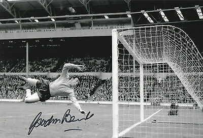 GORDON BANKS Signed In Person 12x8 Photo World Cup 1966 & STOKE CITY COA