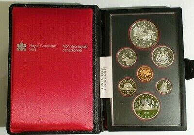 CANADA - 1981 - SEVEN COIN PROOF SET including a SILVER ONE DOLLAR COIN