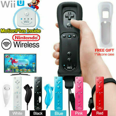 Remote & Nunchuck Controller with Motion Plus inside For NINTENDO WII &WII U~