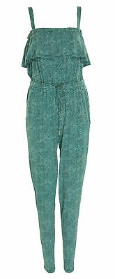 Michael Kors Women's Petite Stingray Print Stretch Jumpsuit Turquosie Size PXS