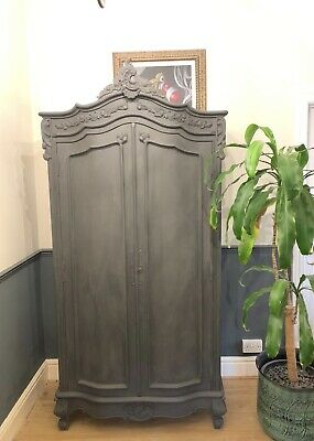 Vintage French Handpainted Louis XV Armoire