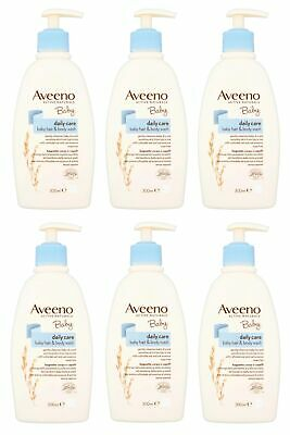 Johnson and Johnson Aveeno Baby Daily Care Hair and Body Wash 300ml PACK OF 6
